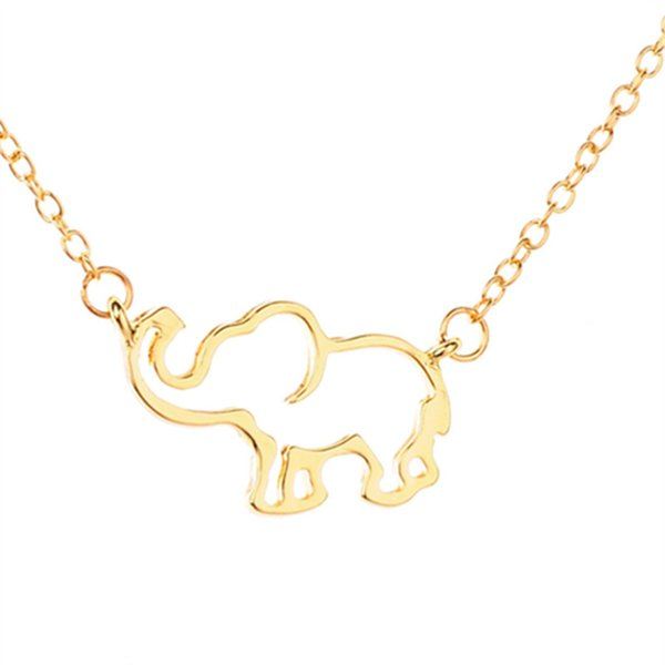2018 hot Sale Adjustable Gold Chain Origami Elephant Pendant Necklaces For Women Jewelry Collares Largos De Moda