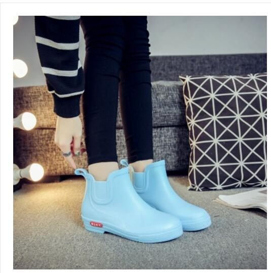 BabeBcBd Rain shoes ladies' short summer waterproof boots water Korean fashion student water waterproof rubber shoes for adults