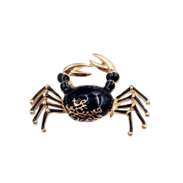 Cute Crabs Brooch Enamel Animal Corsage Pins Kids Women Camicia Coat Clips Gold-colore Spille Abbigliamento Accessori Gioielli