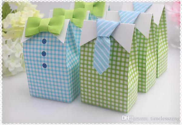 Venta caliente novia y el novio corbata caja de dulces, regalo de la fiesta del bebé estilo Euro Favores de la boda Favoritos del paquete de dulces de la boda Fiesta temática