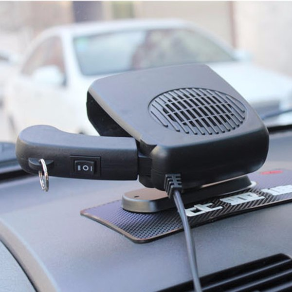 12V Car Heater Fan Auto Vehicle Portable Electric Heating Fan Defroster Windshield Demister Hot Warm Air Conditioner Black Blue