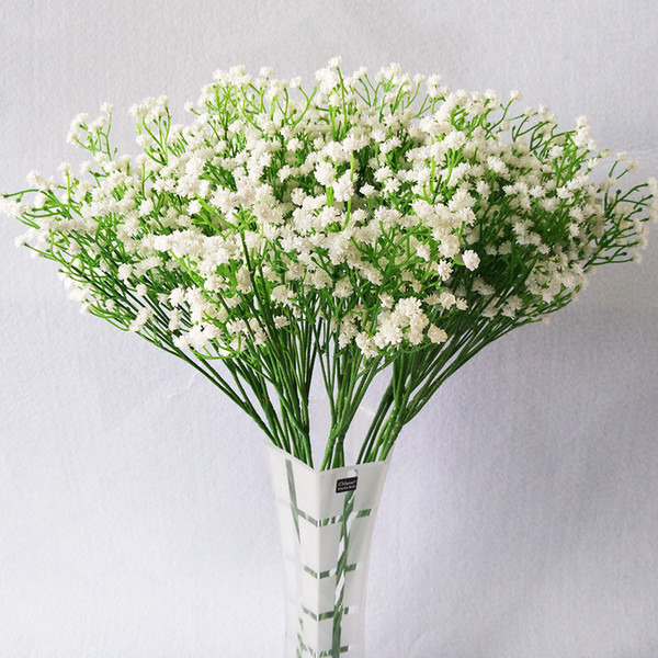 Pu Babysbreath Artificial Flowers Real Touch Artificial Bouquet Flowers For Home Wedding Decorative Flowers Wreaths 21 Pcs /Lot