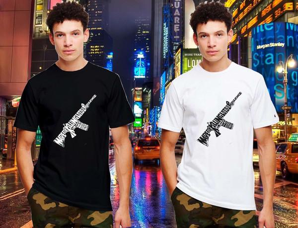 AR 15 fucile d'assalto del fumetto verticale superiore banner Casual 100% cotone Tee maglietta top tee abbigliamento estivo per uomo