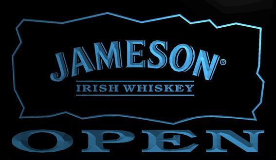 LS706-b-Jameson-Irish-Whiskey-OPEN-Bar-Neon-Light-Sign Decor Free Shipping Dropshipping Wholesale 8 colors to choose