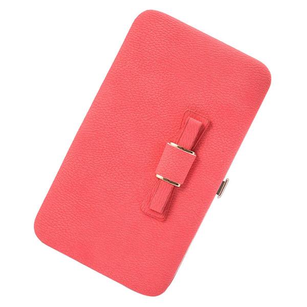 Lady Women Long Purse Printing Bowknot Wallet Card Holder Handbag Bags Wallet Luxury Handbags Women Bags 2018 New Fashion
