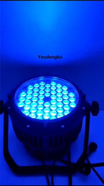 10 pcs rgbw led spot par light rgbw 4 en 1 ip65 par 64 led ce rohs Waterproof 54 3w led par