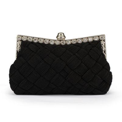 New Arrival Evening Bag Women Ladies Knitted Evening Clutch Bags Knitting Wedding Party Bag Handbag Weaving Leather Clutch Bag