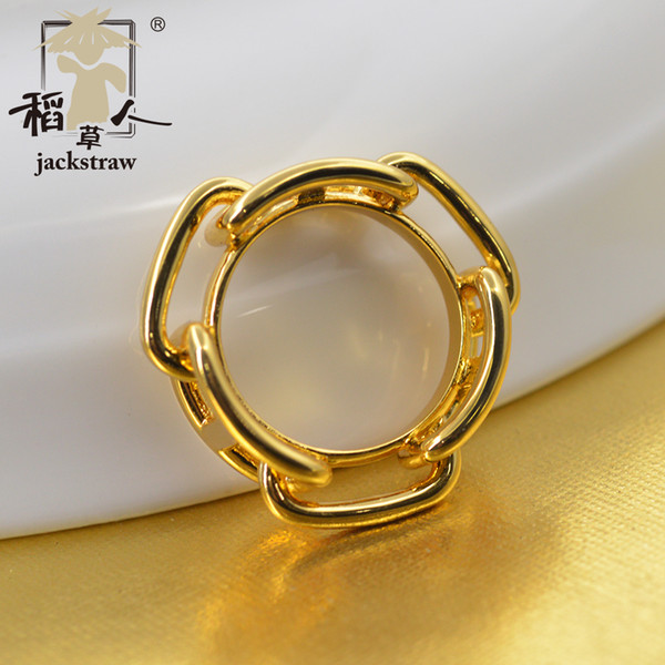 2018 newest style cooper environmental protection materials 3 H scarf ring clip jewelry No hook silk
