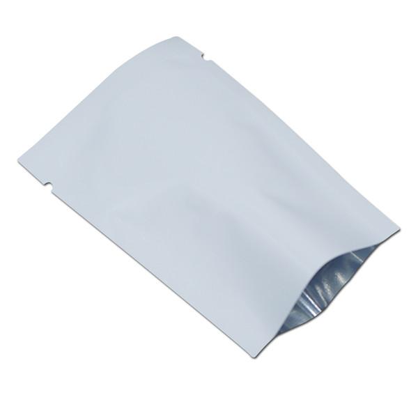 6 * 9 cm Heißsiegel Weiß Aluminiumfolie Vakuum Frischhaltebeutel 500 Teile / los Nuss Kaffee Snack Pulver Bäckerei Open Top Mylar Packbeutel
