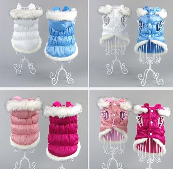 Algodão Acolchoado Casaco de Inverno Cão Quente Roupas Pet Filhote de Cachorro Com Capuz Casaco Roupas para Pequenos Cães Vestuário Chihuahua Yorkie Outfit