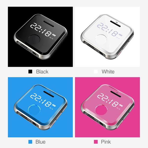 MP3 Çalar MP 3 mini HiFi Müzik Çalar Çocuk Spor WAV Ses Kaydedici FM Radyo 8G 0.91 inç MP3 Bilezik 30 Saat oynayabilir ...