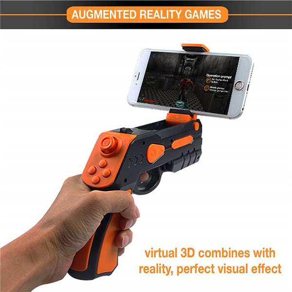 AR Shock Gun Joystick Gamepad Wireless Bluetooth Game Controller Augmented Reality Toys For iPhone Samsung Android All Phone Retailpackage