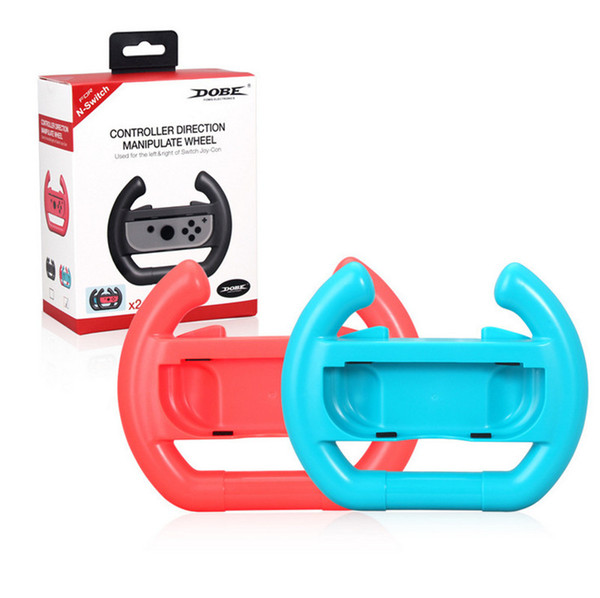 Joy-con Steering Wheel Para Nintend Switch Joy-Con Controlador Hand Grip Handle Controller Direction Wheel 2 unids / set Con Paquete