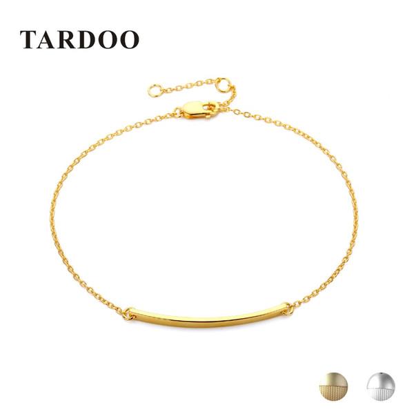 Tardoo Thin Long Stick Bracelets 925 Geometría de plata esterlina Charm Bracelet para las mujeres joyería fina Simple Chain Link pulseras