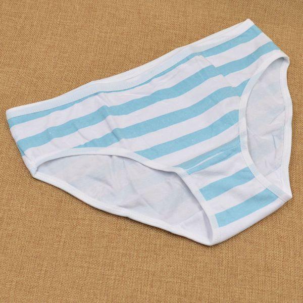 Girls Cotton Briefs Japanese Anime Pink Blue Stripe Panties Harajuku Cute Sexy Hatsune Miku Underpants Underwear Cosplay Fashion