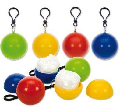 Football Basketball Baseball Spherical Raincoat Plastic Ball Key Chain Disposable Portable Raincoats Rain Covers Travel Tour Trip Rain Coat