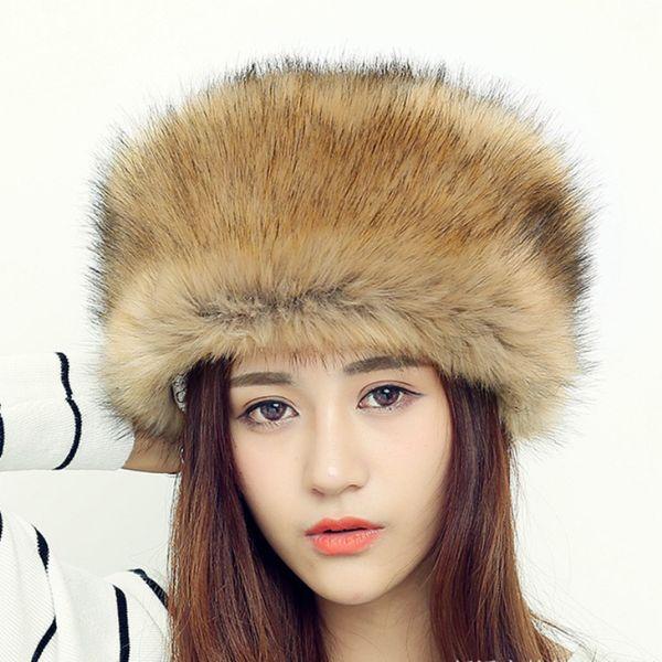 HT552 Women Men RACCOON Fur Cap Hats Fashion Warm Russian Fur Hats for Winter  Female Russian Ushanka Beanies for Men