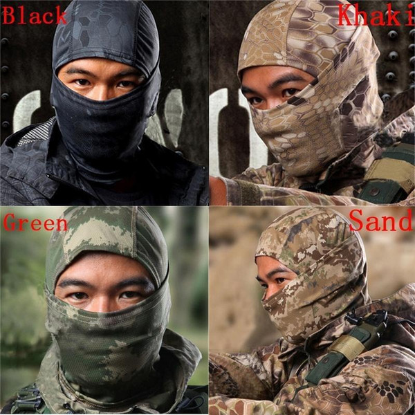 Tactique Crotale Crotale Airsoft Chasse Wargame Respiration Antipoussière Visage Masque Balaclava Moto Ski Cyclisme Ninja Full Hood