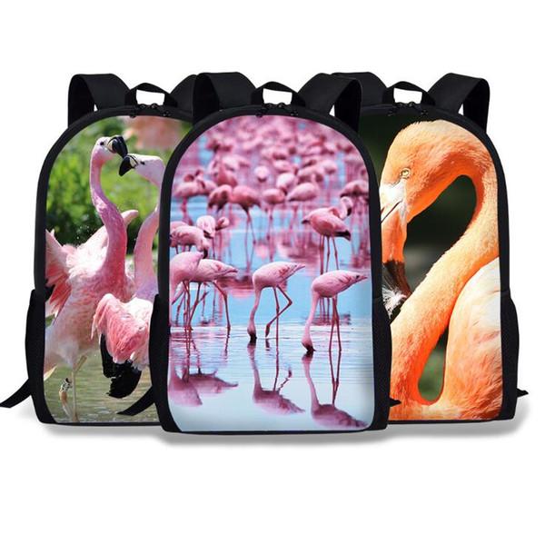 Unisex Backpacks Flamingo 3D Printing Bookbag Women Shopping Travel Bag 16 inch Children School Bag Casual Bagpack 33 Styles Free shipping