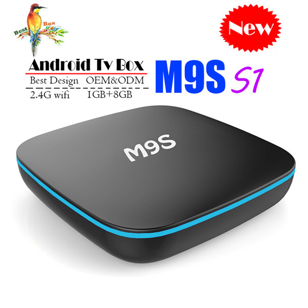 New M9S S1 Allwinner H3 Quad core Android 7.1 1GB 8GB Smart TV Box HDMI2.0 4Kx2K HD 2.4G Wifi Streaming Media Players BETTER MXQ PRO S905W