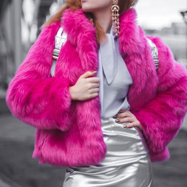 Herbst Kleidung Langarm Kunstpelz Großhandel Umlegekragen Jacke Mäntel Mantel Von Eco Tops Gtgyff Winter Für Frau Frauen Pelz Jacken PXN8n0wOk