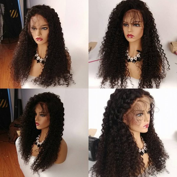 Full Lace Human Hair Wigs For Black Women Brazilian Full Lace Wigs Silk Top Deep Curly Glueless Lace Front Human Hair Wigs