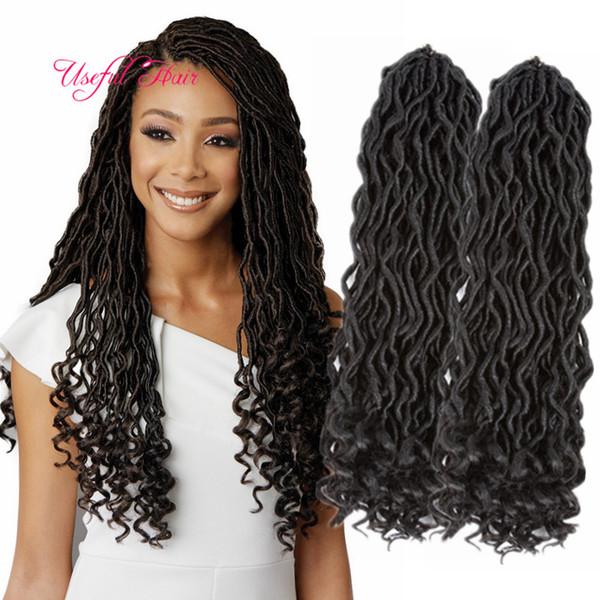 top popular Soft faux locs 18inch dreadlocks braids synthetic hair extension dreads 24strands pcs faux locs crochet synthetic dreads braiding hair marly 2019