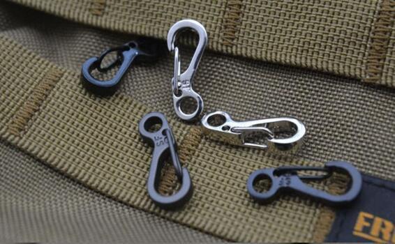 5X printemps SF crochets mousqueton porte-clés Clip crochet extérieur boucle I