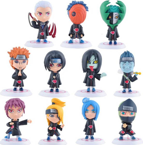 Classic Toys 11Pcs/Set Anime Naruto Figure Sasuke Sakura Uchiha Madara Orochimaru Figurine PVC Japanese Action Figure 8cm