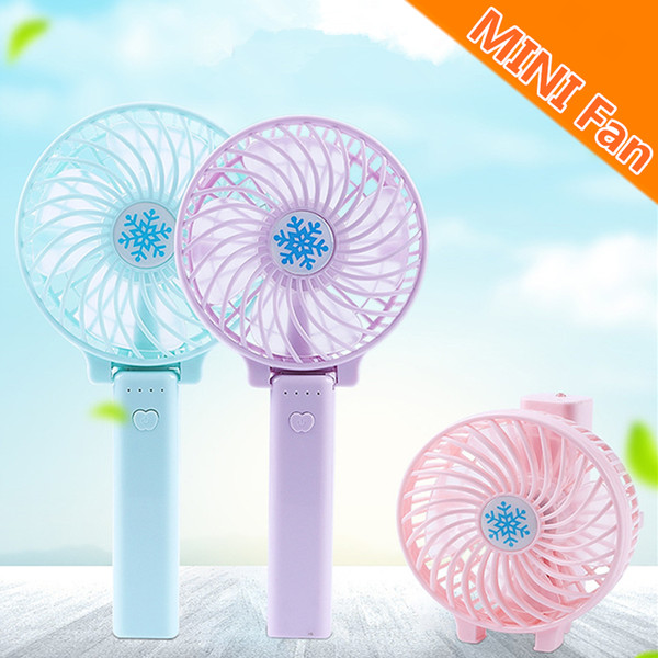 best selling Foldable Hand Fans Battery Operated Rechargeable Handheld Mini Fan Electric Personal Fans Hand Bar Desktop Fan With Retail Package