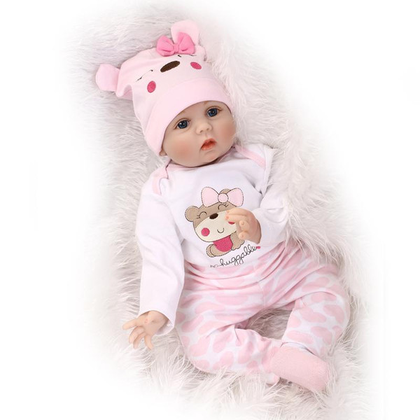 NPK Yenidoğan Reborn Bebek Bebekler Silikon Tam Vücut Sevimli Yumuşak Bebek Alive Bebek Kız Prenses Çocuk Moda Bebe s 55 cm
