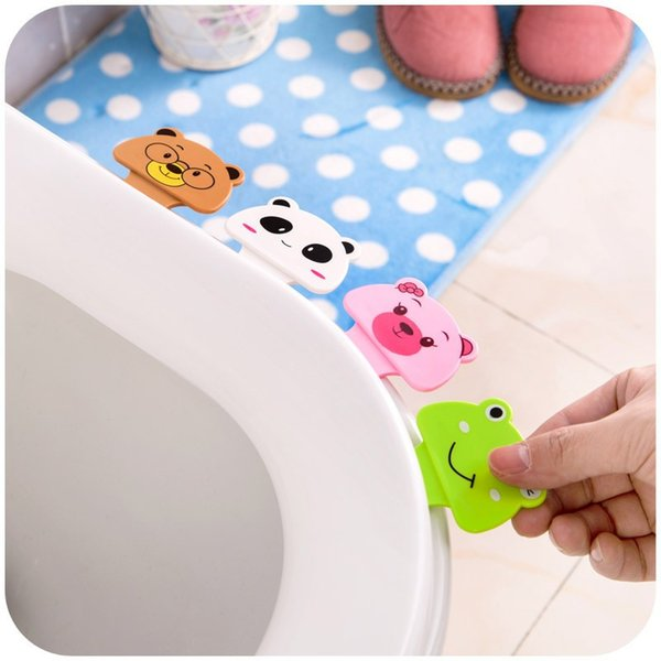 Cute Cartoon Toilet Lid Lifting Device Seat Cover Handle House Bathroom Product Portable Handle House Accessories