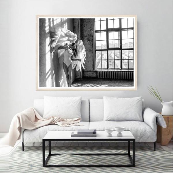 Acquista Stampe Finestra In Bianco E Nero Poster Di Angeli Poster  Fotografia Nordica Quadri Quadri Moderni Soggiorno A $25.47 Dal Aliceer |  DHgate.Com