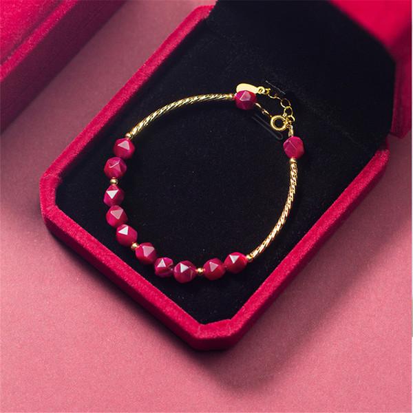 Naturel Cristal Bracelet 925 Bijoux En Argent Boho Simple Charmes Vintage Minimalisme Cadeau D'anniversaire Bijoux Indiens Bracelets pour Femmes