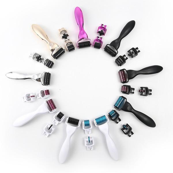 3-in-1 Kit Derma Roller für Körper und Gesicht und Auge Titan Micro Needle Roller 180 600 1200 Nadeln Haut Derma Roller 0609013