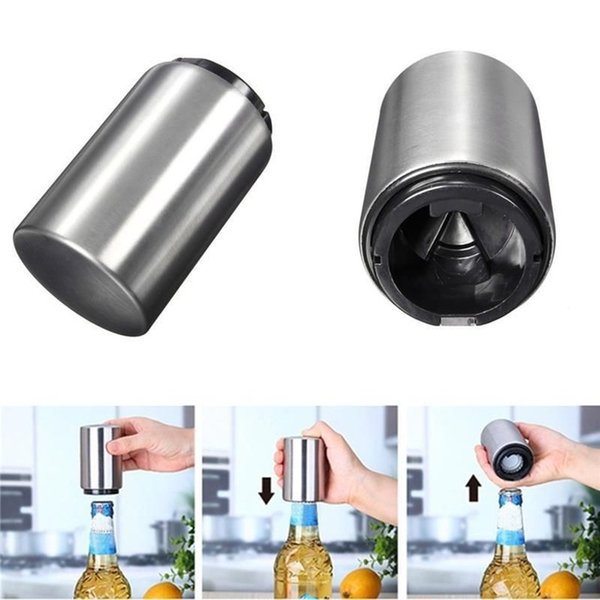 8.5*5cm Stainless Steel Automatic Wine Bottle Opener Soda Beer Bottles Caps Openers Kitchen Bar Gadgets