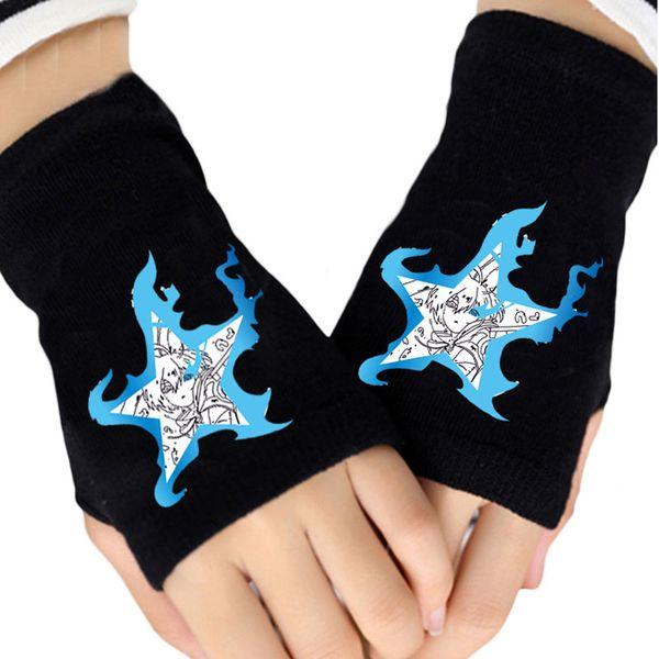 fashion girls knitting gloves black rock shooter himouto umaru-chan fingerless cotton knitted glove womens winter mittens gift thumbnail