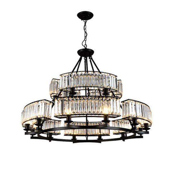 Crystal chandeliers living room bedroom black pendant lamps retro minimalist country restaurant lights American led pendant chandelier