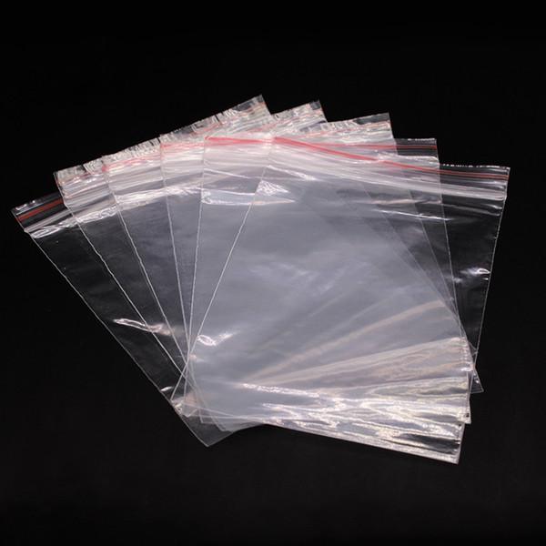 9*13cm Wholesale 100Pcs Transparent Food Phone Card Valve Hermetic Bag Zip Lock Plastic Gift Packaging Bags For Necklace