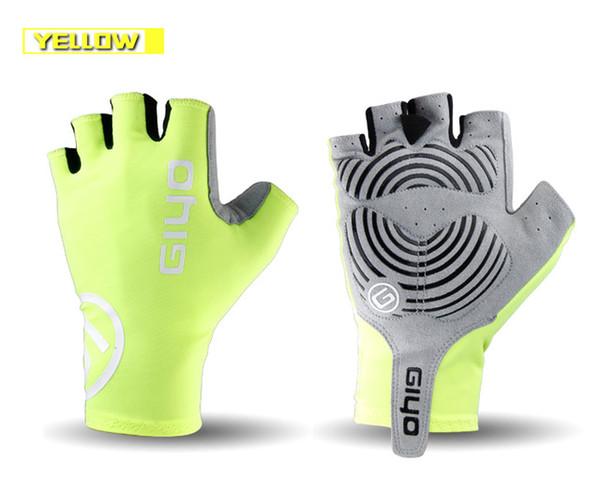Anti Slip Gel Pad Fahrradhandschuhe Gel Pad Kurze Halbe Finger Radfahren Handschuhe Atmungsaktive Outdoor Sports Männer MTB Bikes Handschuhe