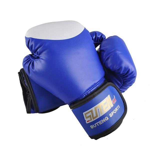 Suten Brand Pu Boxing Gloves Kickboxing Mma Training Equipment Fighting Sandbag Glove Suteng Sanda Glove White Top Design