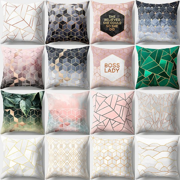 45*45cm 16 Styles Geometry Pattern Cushion Covers Bedroom Seat Decorative Pillow Home Decor Kitchen Accessories Party Decoration