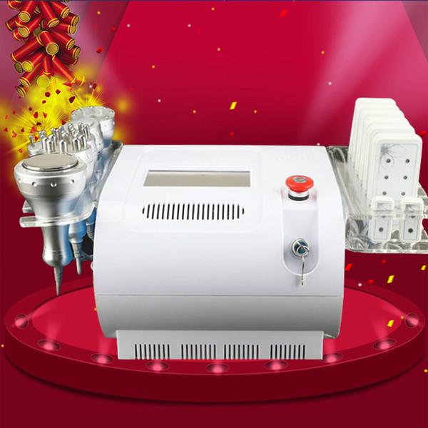Heißer Verkauf 6 in 1 Kavitations-Vakuum-Radiofrequenz-40K Ultraschall-Lipo-Laser, der Maschine für Badekurort CE / DHL-freies Verschiffen abnimmt