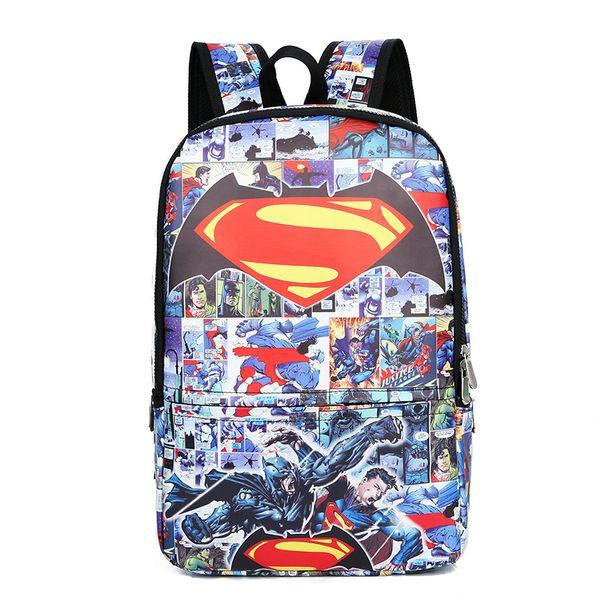 Comics Hero Backpack Children School Bag Daily Backpack Teens Boy Girls Justice League School Bags Gift Book bag