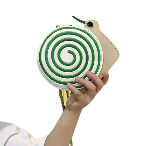 JHD мультфильм Улитка Симпатичные детские сумки на ремне Личность Дикий кошелек Мини-сумка для аксессуаров