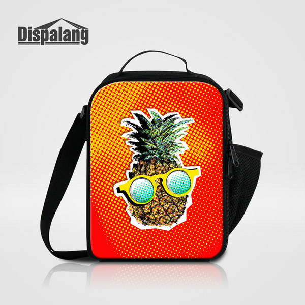 231779573edc 2019 3D Printing Pineapple Insulated Lunch Cooler Bags For Children Girls  Lovely Cute Yellow Fruit Food Picnic Bag Lunchbox Kids Small Lancheira From  ...
