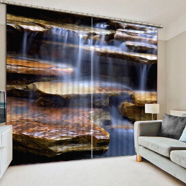 Europe Blackout Curtain waterfall landscape Curtain For Living room Bedroom Window Curtains Home Decoration