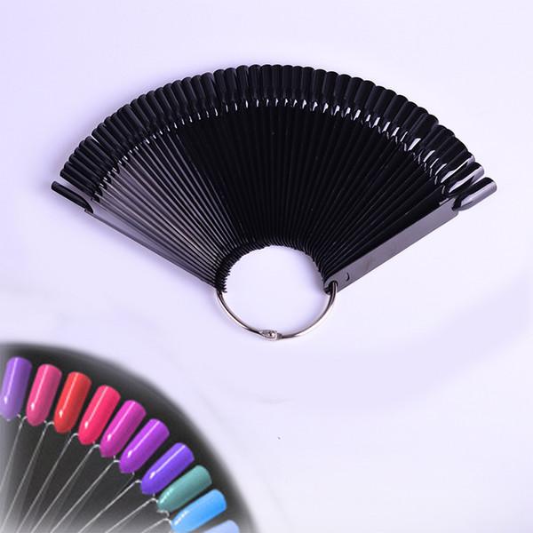 Fake Nail Tips False Nails 50Pcs Acrylic UV Gel Sticker Decorations Display Practice Fan Shaped Tools Nail Art Manicure Salon