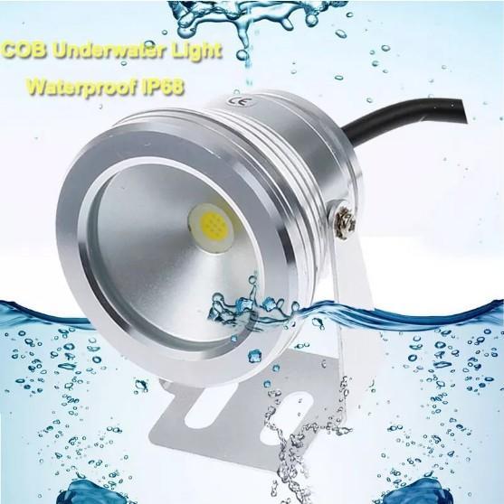 Super helles 1000LM 10W PFEILER LED Unterwasserlicht 12V DC kühles / warmes Weiß IP68 imprägniern Foutain Pool-Lampen-Beleuchtungsbefestigung LLFA