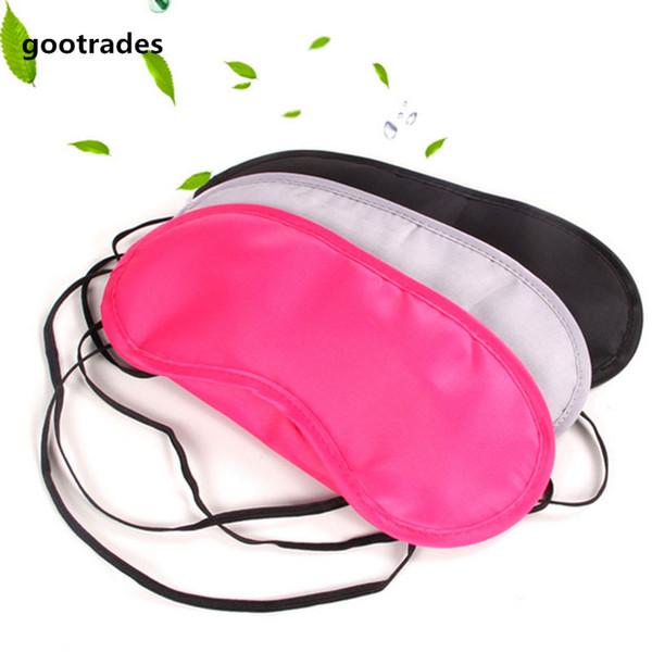 1 UNID Viaje Reposo para dormir Ayuda para dormir Máscara Sombra de ojos Cubierta Confort Blindfold Shield